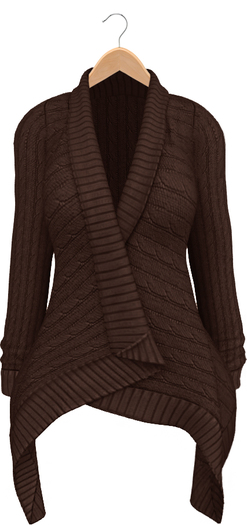 Blueberry - Dawnee - Maitreya Lara & Belleza Venus & Slink Physique Compatible - Sweater Cardigans Brown
