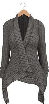 Blueberry - Dawnee - Maitreya Lara & Belleza Venus & Slink Physique Compatible - Sweater Cardigans Gray