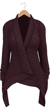 Blueberry - Dawnee - Maitreya Lara & Belleza Venus & Slink Physique Compatible - Sweater Cardigans Purple