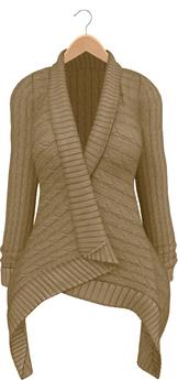 Blueberry - Dawnee - Maitreya Lara & Belleza Venus & Slink Physique Compatible - Sweater Cardigans Tan