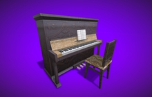 "1 LI ""Piano w Chair"" any texture, animated, scripted for 12 songs (mod, copy)"