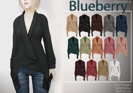 Blueberry - Dawnee - Maitreya Lara & Belleza Venus & Slink Physique Compatible - Sweater Cardigans Fat Pack