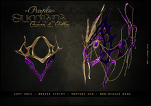 . a i s l i n g . Sumiana Crown&Collar -PURPLE-