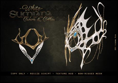 . a i s l i n g . Sumiana Crown&Collar -WHITE-