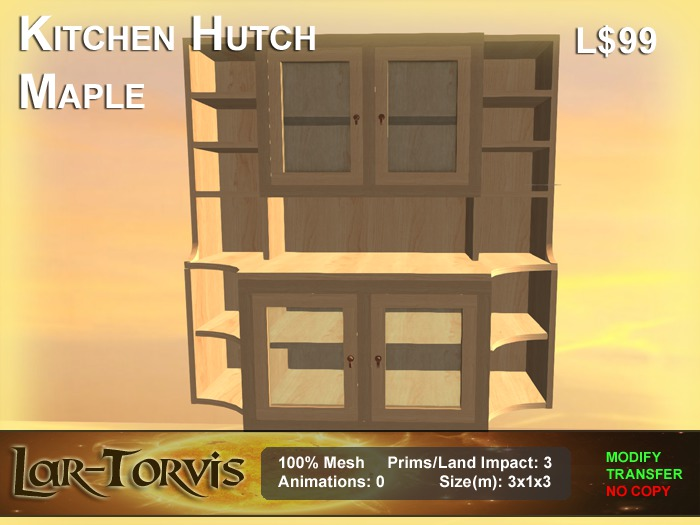 Second Life Marketplace Kitchen Hutch