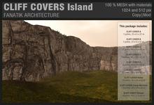 :Fanatik Architecture: CLIFF COVERS Island - mesh sim building / landscaping kit - rock formation building prefab