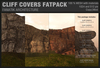 :Fanatik Architecture: CLIFF COVERS FATPACK - mesh sim building / landscaping kit - rock formation building prefab