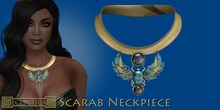 Eclectica Scarab Neckpiece-gold & turquoise