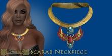 Eclectica Scarab Neckpiece-carnelian, turquoise & gold
