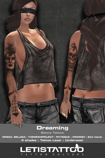 Letis Tattoo :: Dreaming :: Sleeve Tattoo & Appliers