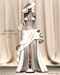Asteria Creations - Princess Maria Gown Set - Ivory