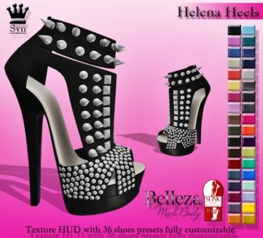 [Syn] Helena Heels (Texture HUD, Slink, compatible with -Belleza- high feet)