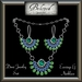 Beloved Jewelry : Demi Jewelry Set Silver with Emeralds & Alexandrite (2 Piece Jewelry Set-Necklace and Dangle Earrings)