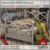 Trompe Loeil - Zophia Bed White {A} [mesh]