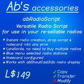 Versatile Radio Script  - make and sell radios, great for landlords as well