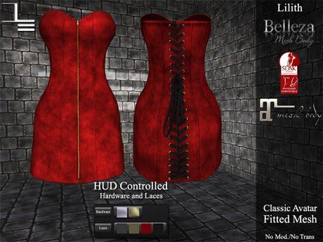 DE Designs - Lilith - Red Fabric