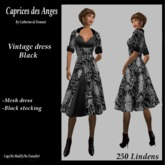 *CdT*  Vintage dress black