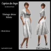 *CdT*  Vintage dress white