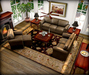 Copper Leather and Inlaid French Living Set MESH