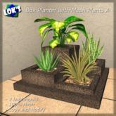 Lok's Box Planter with Mesh Plants A