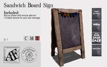 *AF* Sandwich Board Sign