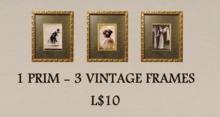 3 Vintage Picture Frames