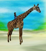 Rodeo Giraffe rideable animal - animated