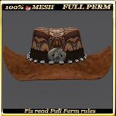 LW_ Mesh Cowgirl Hat - Full Perm 3