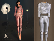 Bens Boutique - Nelly Leather Jacket & Waisted Pants White
