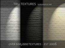 12 Seamless White Black Cream Brick Walls With Baked Light Textures - By TRU Textures