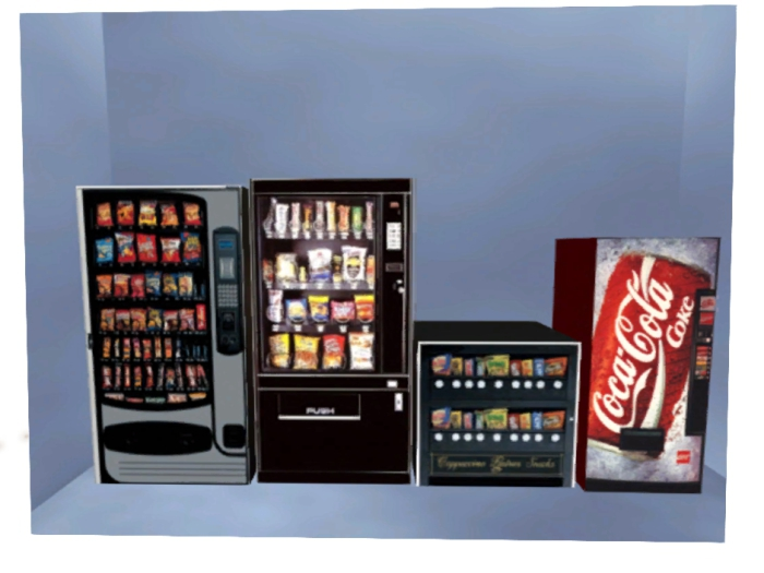 4 pack snack & drink vending Machines copy / resell
