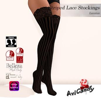 AVICANDY Striped Lace - Licorice