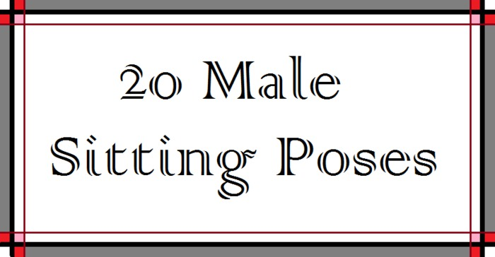 20 Male Sitting Poses -box-