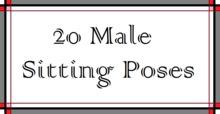 20 Male Sitting Poses -box-