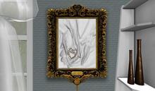 "CJ Antique 3D Wall Frame ""Love"" bronze ~ c + m ~"