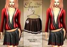 "Elegance Boutique - Mesh  Skirt ""Mimi"" Brown"