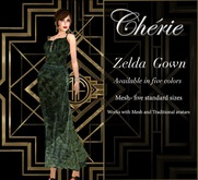 Cherie ~ Zelda Gown - Olive MP