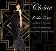 Cherie ~ Zelda Gown - Dark Sparkle