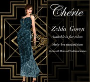 Cherie ~ Zelda Gown - Ocean