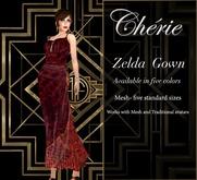 Cherie ~ Zelda Gown - Vermillion