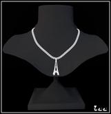 Zee Eiffel Tower Necklace - Silver