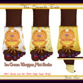 The Seventh Exile: Ice Cream Wrapper Mini Socks: Soft Serve - Set One