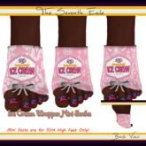 The Seventh Exile: Ice Cream Wrapper Mini Socks: Strawberry - Set Two