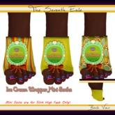 The Seventh Exile: Ice Cream Wrapper Mini Socks: Citrus Burst - Set Two