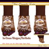 The Seventh Exile: Ice Cream Wrapper Mini Socks: Chocolate - Set One