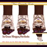 The Seventh Exile: Ice Cream Wrapper Mini Socks: Chocolate - Set Two