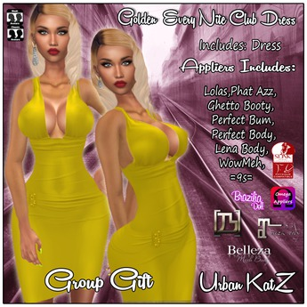 Golden Every Nite Club Dress