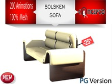 Solsken PG Couch ~ 200 HQ Animations PG Sofa Leather White By Koncepto