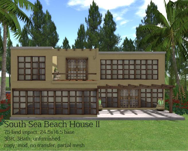 South Sea Beach House II (75LI, 24.5x16.5)