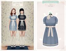 The Secret Store - Anita Empire Dress - Sky